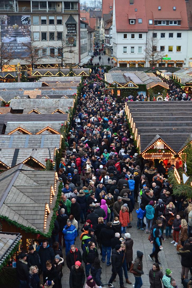 jõuluturg, Ulm, rahvas, jõulude ajal