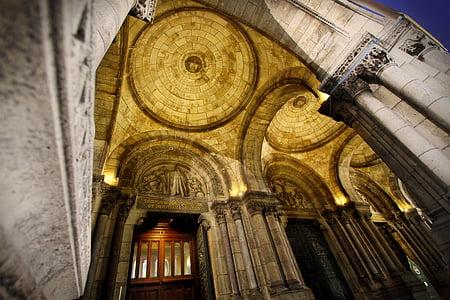 arcs, arquitectura, edifici, Catedral, sostre, columnes, cúpula
