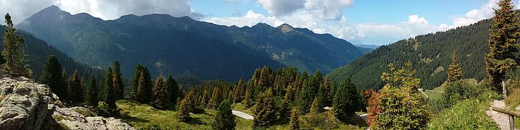 muntanyes, panoràmica, alpí, paisatge