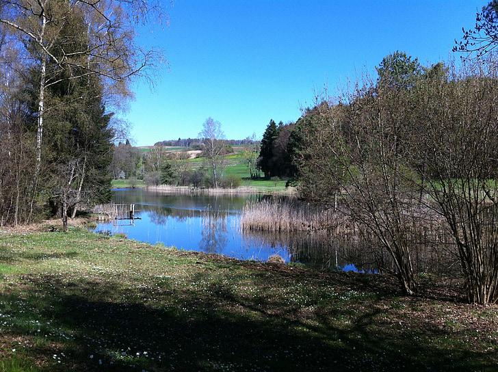 water landscape, silent, impressions, mood
