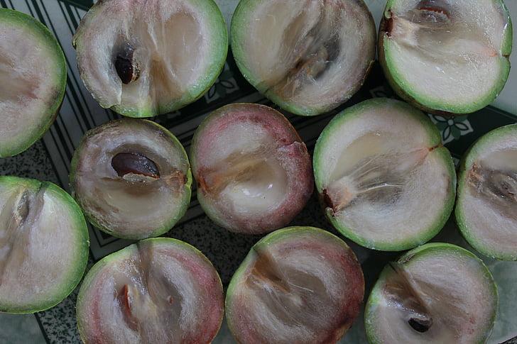 fruita, fruita de Vietnam, vusua, estrella d'apple, starapple, dolç, verd