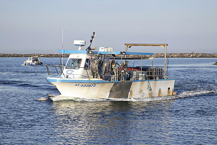 boat, fishing, fisherman boat, fisherman, net, marin, sea
