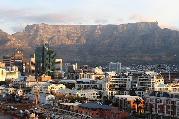 table mountain, cape town, south africa, mountain, cape, africa