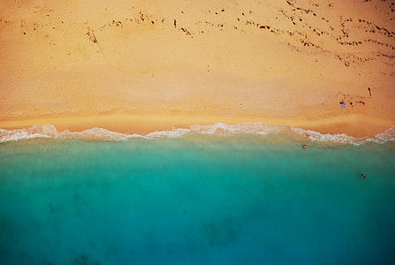 beach, shoreline, coast, summer, shore, sand, sea