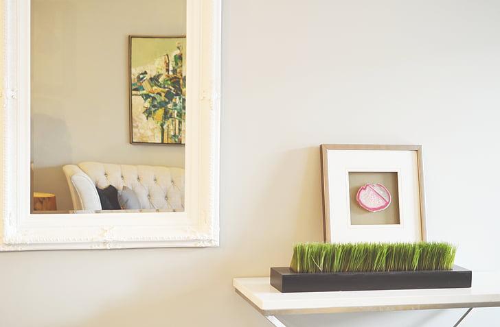 spiegel, decor, Home, fotolijst, fotolijstjes, ontwerp, interieur