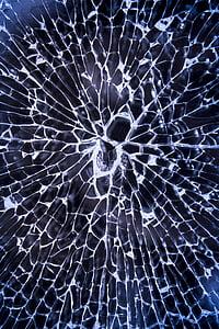 ガラスの破片, 粉々 になった, ガラス, 壊れた, ウィンドウ, 亀裂, 損傷