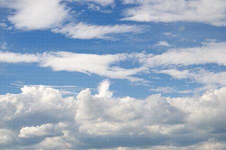Sky, természet, felhők, ég, kék ég, kék, Időjárás