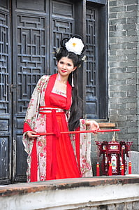 chinese woman, chinese woman with lantern, traditional chinese woman, one woman only, only women, adults only, red