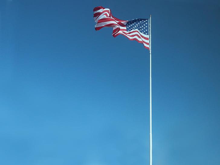 amerikanske flag, USA, flag, 4 juli, Amerika, dom
