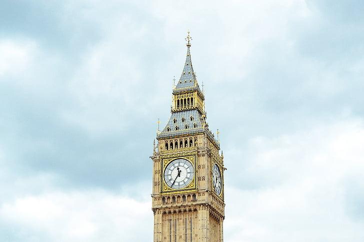 arkkitehtuuri, Big ben, kirkko, kello, Kellotorni, Lontoo, Parlamenttitalo