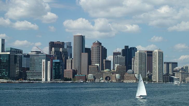 보스턴, 미국, 미국, 포트 시, 스카이, 건물