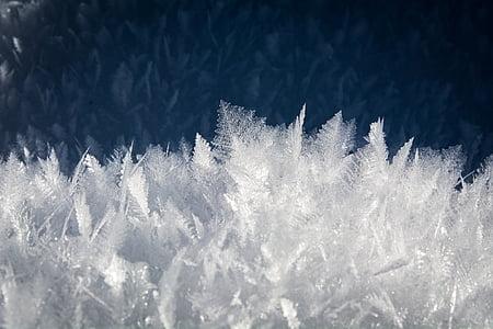 eiskristalle, Luonto, jäädytetty, talvi, lumi, Talvinen, talvella