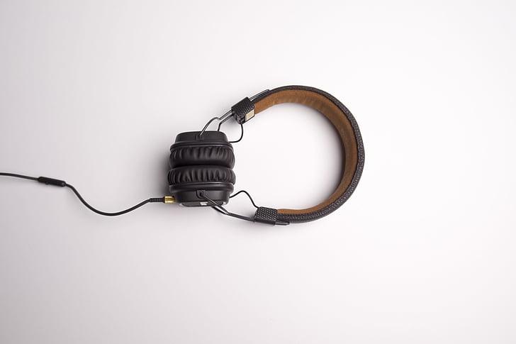 auricular, auriculars, Escolta música, música, parlant de música, connexió, tecnologia