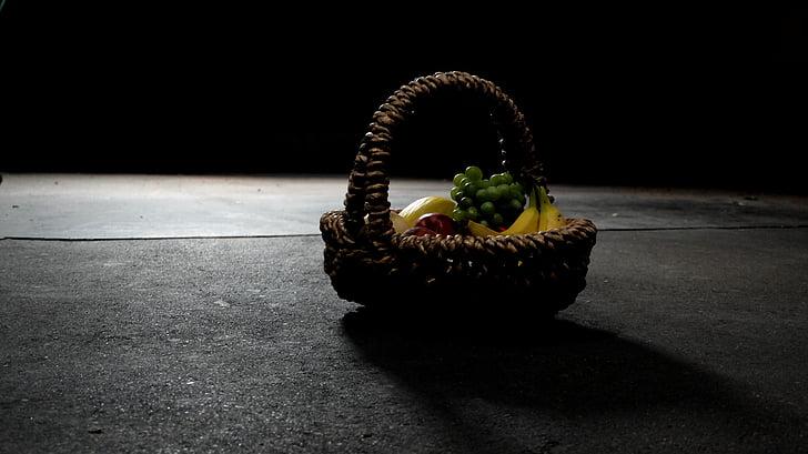obstkorb, fruites, cistella, Naturalment, menjar, aliments, salut