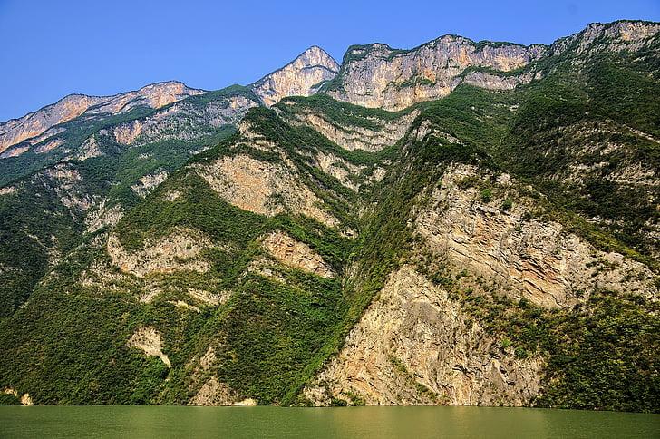 tri klanca, krajolik, Kina, Rijeka yangtze, male tri klanca