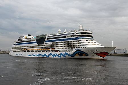 Aida, loď, jízda výletní loď, Já?, svátek, voda, Hamburk