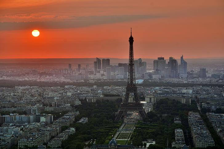 city, eiffel tower, france, landmark, paris, skyline