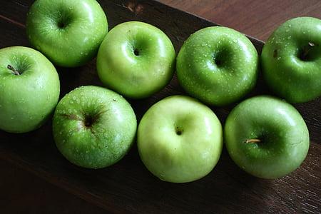 pomes, verd, poma verda, fruita, aliments, Sa, frescor