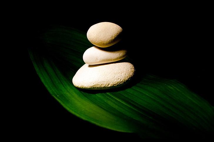 taş, taşlar, Piramit, yaprak, Yeşil, Beyaz, Gölge