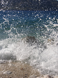 navegar per, injectar, esquitxades d'aigua, ona, l'aigua, Mar, mullat