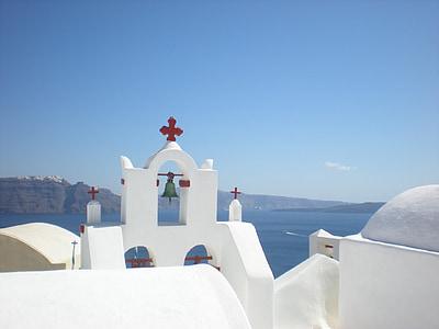 Santorini, Grčki otok, Grčka, marinac, Crkva, zvono, Oia