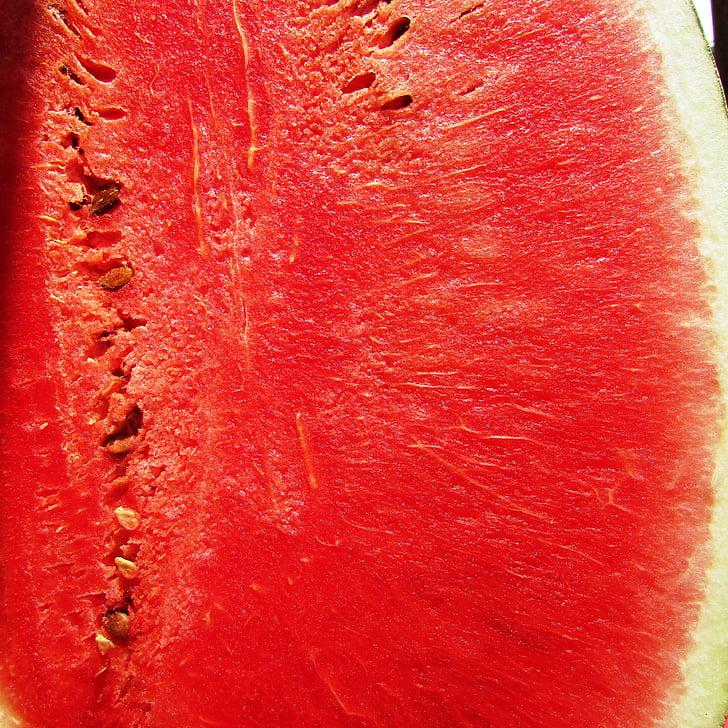 melón, melón, Citrullus lanatus, červená, ovocie, letné, šťavnaté