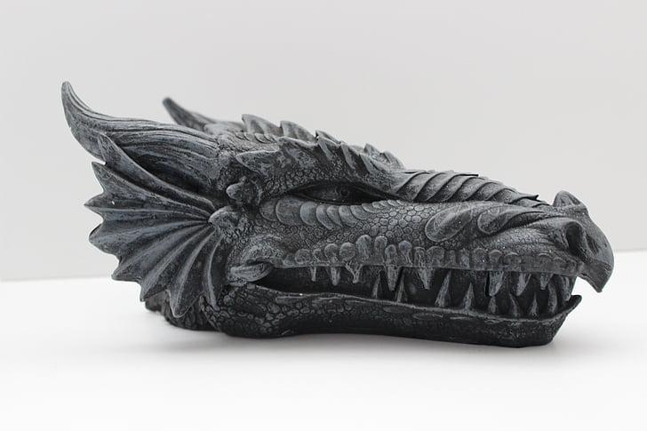 dragon, reptile, creature, head, monster, fantasy, dragons