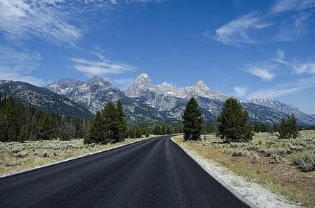 asfalto, autostrada, montagna, tempo libero, strada, cielo, Viaggi