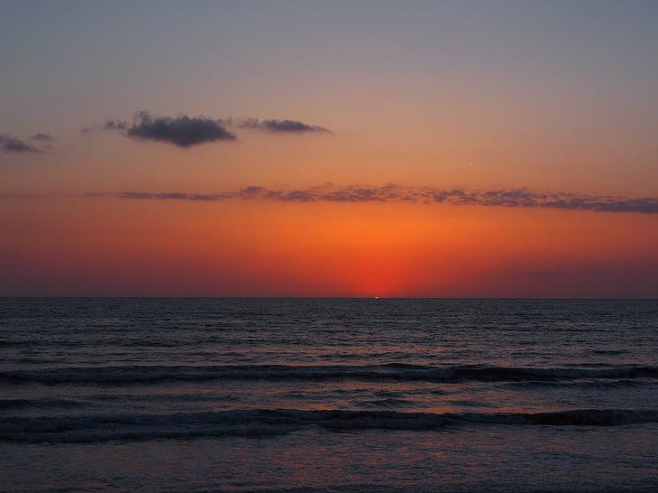 Alba, estat d'ànim, matí, Mar, Mallorca, morgenstimmung, cel