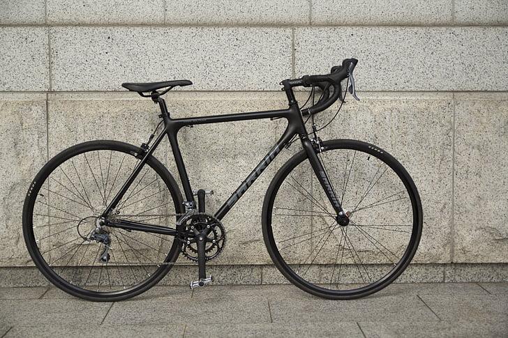 дорога, Шоссейный велосипед, роуд Велоспорт, дорожные велосипеды, циклы, велосипед, черный