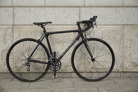 ceste, cestovni bicikl, Road biciklizam, cestovni bicikli, ciklusa, bicikl, Crna
