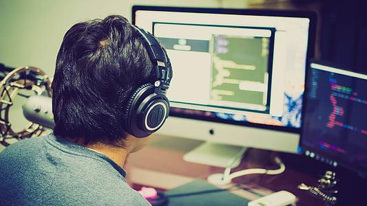 програмування, код, iMac, комп'ютер, програмування, комп'ютер користувача, Ленс