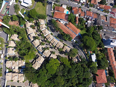 houses, high, panorama, aerial View, architecture, street, cityscape