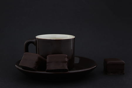 bitter chocolate, chocolate, cafe, cocoa powder, chocolate pieces, dark chocolate, coffee