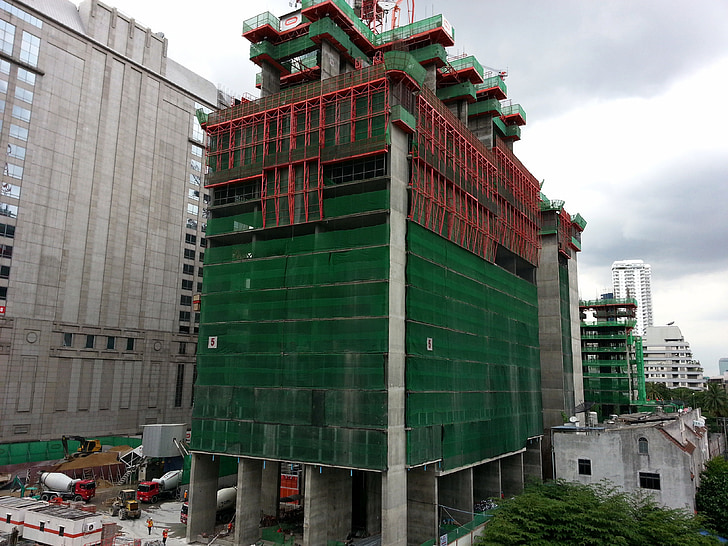 construction, building, site view, bangkok
