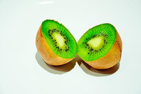 skiver, Kiwi, frugt, grøn, frugter, mad, sund