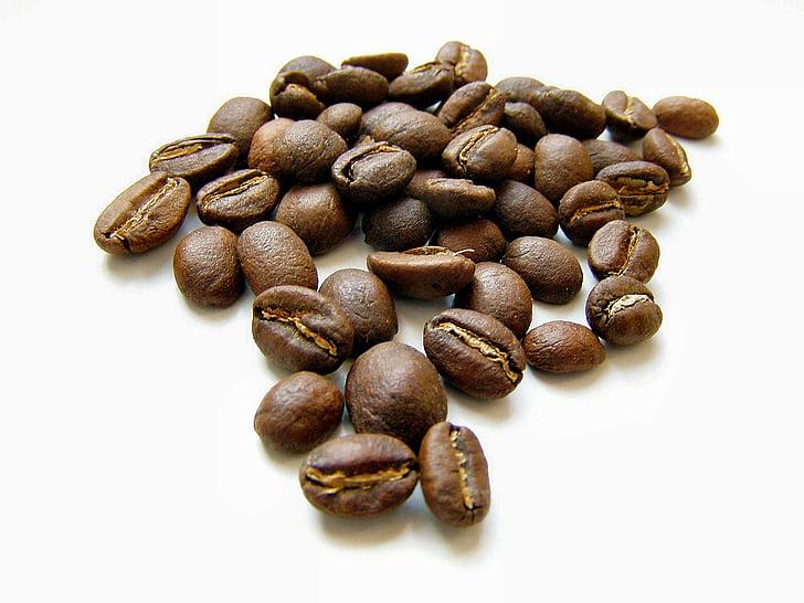 grans de cafè, cafè, aliments, aroma de, rostit, beneficiar-se de, fesol