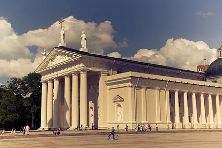 edifici, Lituània, columnes, arquitectura, renom, columna arquitectònica, història