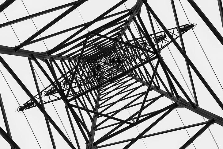 praeguse, strommast, liini, võimu poolakad, elektrienergia, energia, kaabel