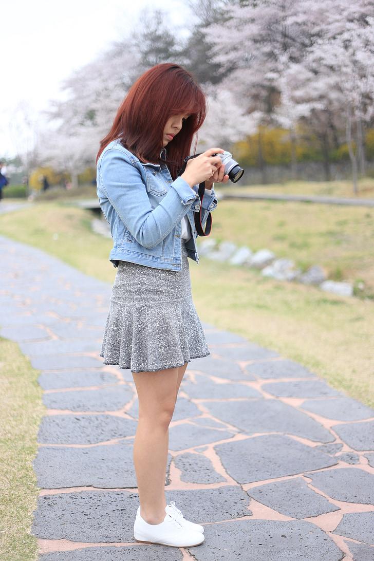 women's, camera, ex 4, photographer, the public, skirt, jacket
