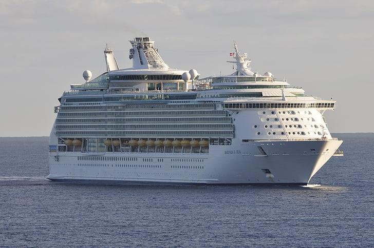 kryssningsfartyg, Medelhavet, semester kryssning, semester, till sjöss, havet går, fartyg