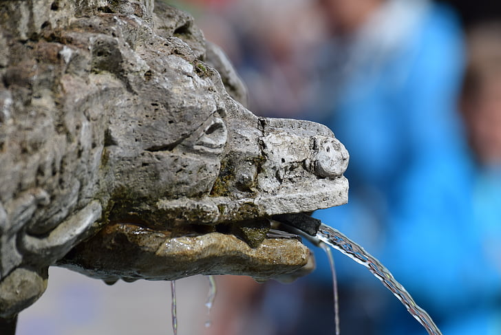 분수, 우물 물, 흐름, 물