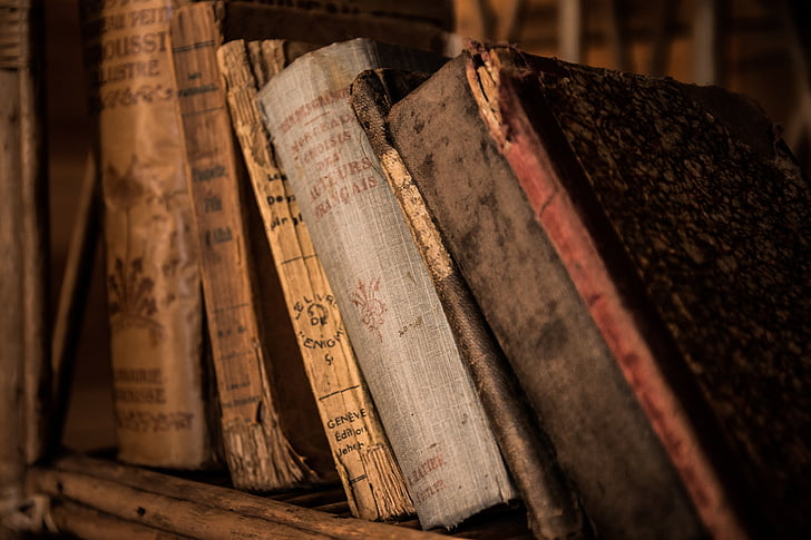 old books, book, old, library, education, archive, zeromski