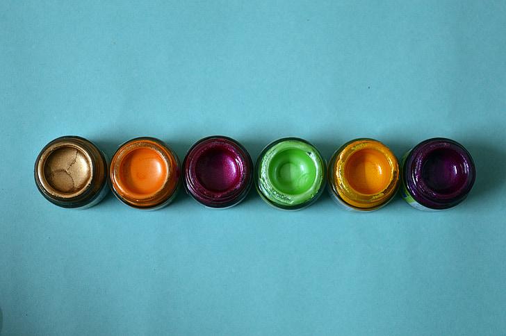 colors, ampolles, vidre, colors, líquid, vermell
