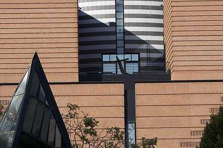 MoMA, Muzeum, moderní, budova, sklo, fasáda, Architektura
