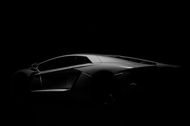 Automobile, automobiļu, automašīnas, tumša, transportlīdzekļa, naktī, melna fona