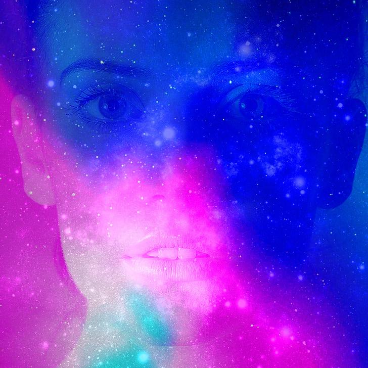 fantasy, face, space, woman