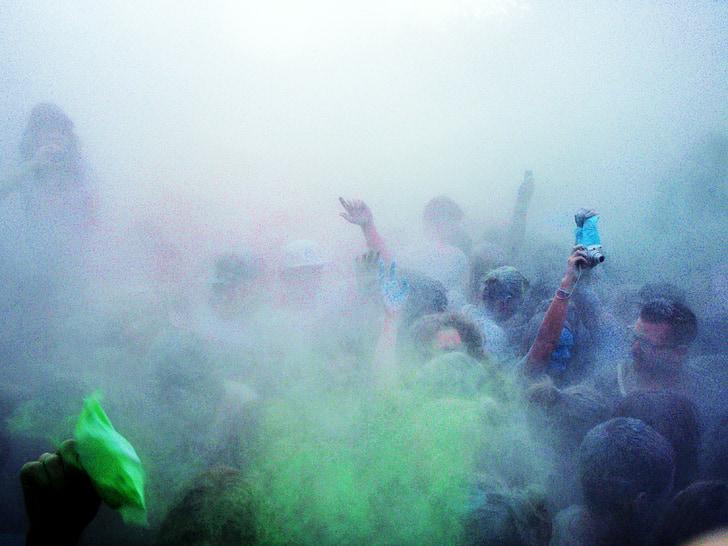 Farbrausch, Holi basfärger, farbpulver, färg part, färg, färgglada, färg pulver