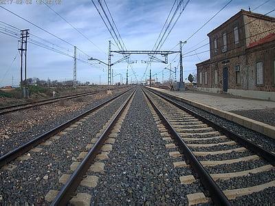 tren, vias, ferrocarril de, carriles de, carril de, Ruta de acceso, trenes
