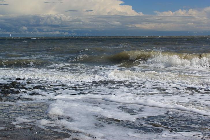 víz, természet, tenger, hullám, Északi-tenger, spray, hab